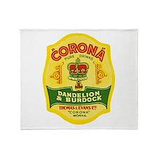 Wales Beer Label 1 Throw Blanket