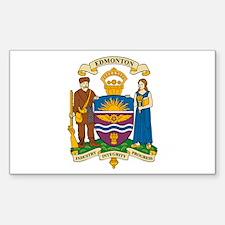 Edmonton Coat of Arms Rectangle Decal