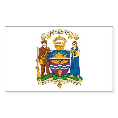 Edmonton Coat of Arms Rectangle Sticker