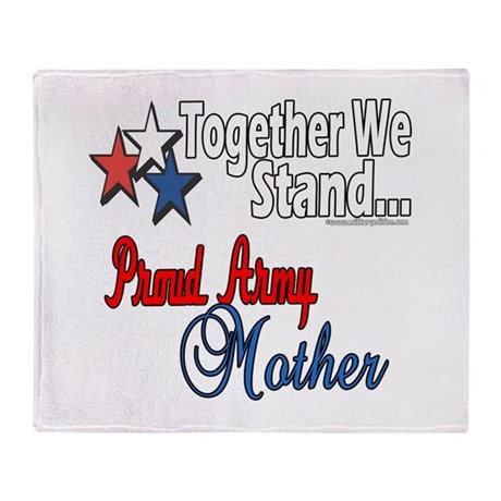 Proud Army Mother Throw Blanket