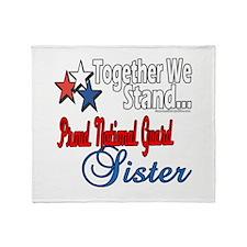National Guard Sister Throw Blanket