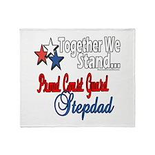 Coast Guard Stepdad Throw Blanket