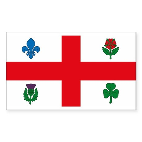 Montreal Flag Rectangle Sticker