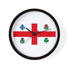 Montreal Flag Wall Clock