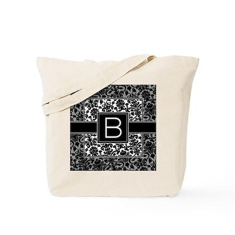 Monogram Letter B Tote Bag