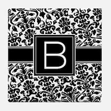 Monogram Letter B Tile Coaster