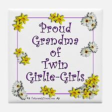 Proud Grandma of GirlieGirls Tile Coaster