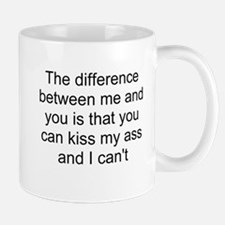 kiss my ass Small Small Mug