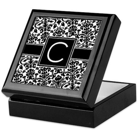 Monogram Letter C Keepsake Box
