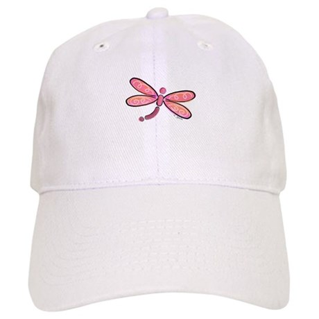 Pink Dragonfly Cap