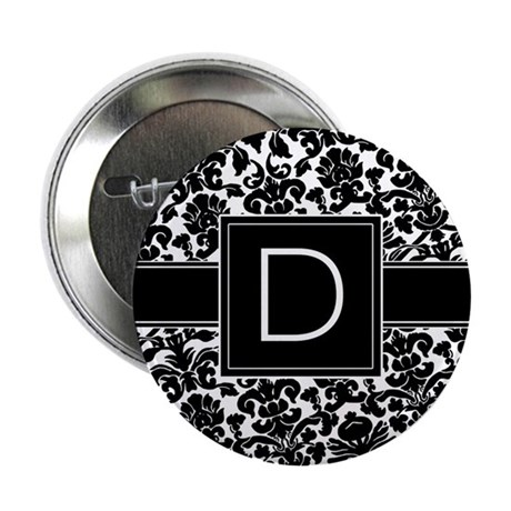 """Monogram Letter D 2.25"""" Button"""