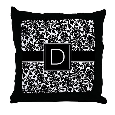 Monogram Letter D Throw Pillow by MarshEnterprises