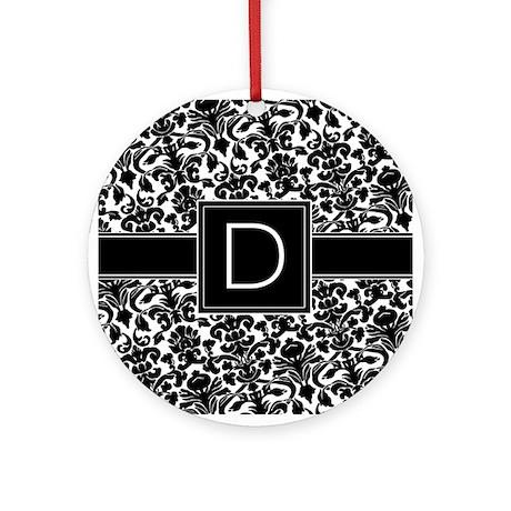 Monogram Letter D Ornament Round By MarshEnterprises