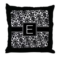 Monogram Letter E Gifts Throw Pillow