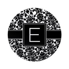 Monogram Letter E Gifts Ornament (Round)