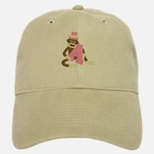 Sock Monkey Monogram Girl A Baseball Baseball Cap