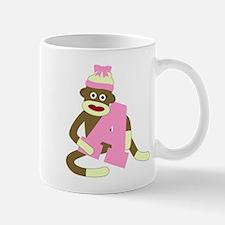 Sock Monkey Monogram Girl A Coffee Mug