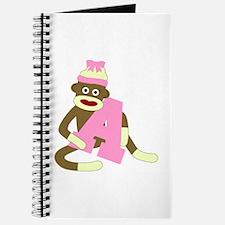 Sock Monkey Monogram Girl A Journal