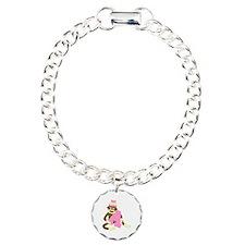 Sock Monkey Monogram Girl A Bracelet