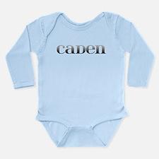 Caden Carved Metal Long Sleeve Infant Bodysuit