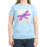 Pink and Lavender Dragonfly Women's Pink T-Shirt