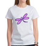 Pink and Lavender Dragonfly Women's T-Shirt