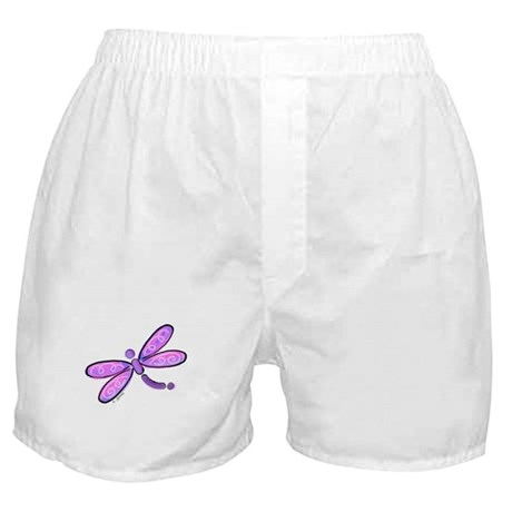 Pink and Lavender Dragonfly Boxer Shorts