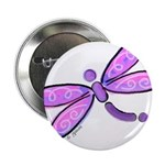Pink and Lavender Dragonfly Button