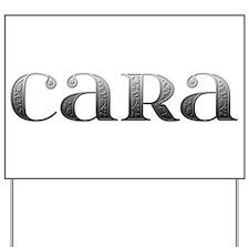 Cara Carved Metal Yard Sign