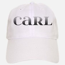 Carl Carved Metal Baseball Baseball Cap