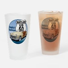 The Maryland US Route 50 Drinking Glass