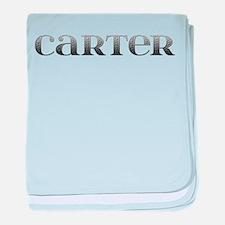 Carter Carved Metal baby blanket