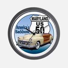 The Maryland US Route 50 Wall Clock