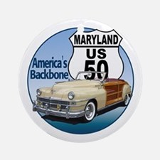 The Maryland US Route 50 Ornament (Round)