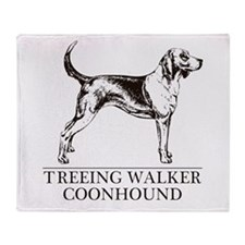 Treeing Walker Coonhound Throw Blanket