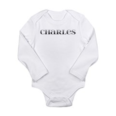 Charles Carved Metal Long Sleeve Infant Bodysuit