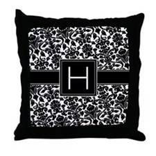 Monogram Letter H Gifts Throw Pillow