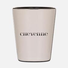 Cheyenne Carved Metal Shot Glass
