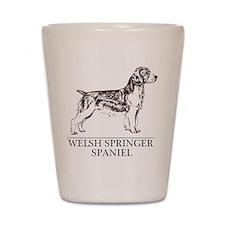 Welsh Springer Spaniel Shot Glass