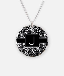 Monogram Letter J Gifts Necklace
