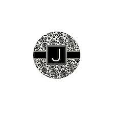 Monogram Letter J Gifts Mini Button