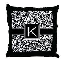 Monogram Letter K Gifts Throw Pillow