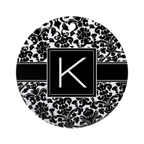 Monogram Letter K Gifts Ornament (Round)