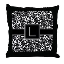 Monogram Letter L Gifts Throw Pillow