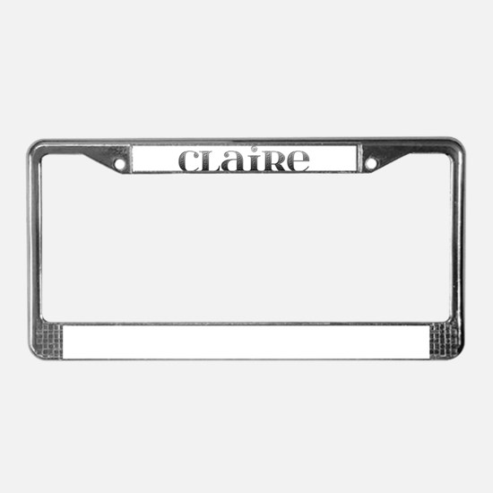 Claire Carved Metal License Plate Frame