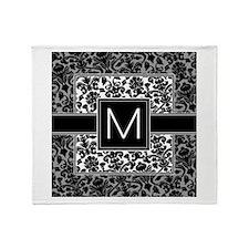 Monogram Letter M Throw Blanket