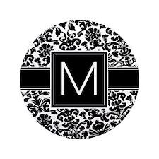 """Monogram Letter M 3.5"""" Button"""