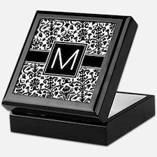 Monogram Letter M Keepsake Box