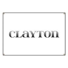 Clayton Carved Metal Banner