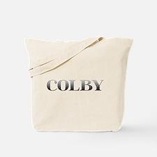 Colby Carved Metal Tote Bag